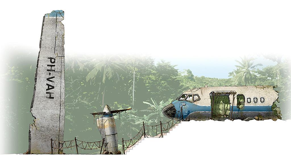 storyboard illustratie door tom van der linden voor communicatie van een pretpark